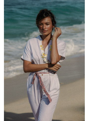 COMBINAISON BRILLO - Blanc - Pantalons & Combinaisons - Vêtements Bio - Palem Brand