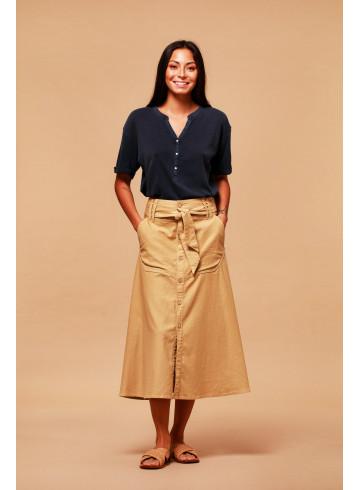 SKIRT SAVANA - Camel - Skirts & Shorts - Vêtements Bio - Palem Brand