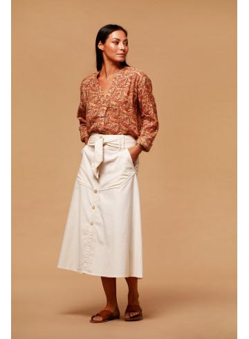 SKIRT SAVANA - Ecru - Skirts & Shorts - Vêtements Bio - Palem Brand