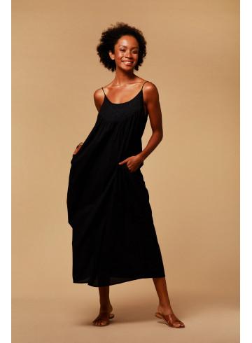 DRESS ROMY - Black - Dresses - Vêtements Bio - Palem Brand
