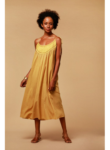 DRESS ROMY - Ocre - Dresses - Vêtements Bio - Palem Brand