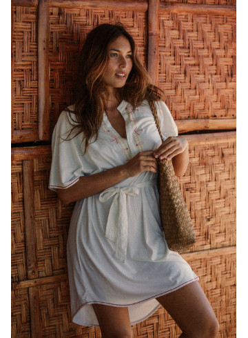 ROBE SARI - Ecru - Robes - Vêtements Bio - Palem Brand