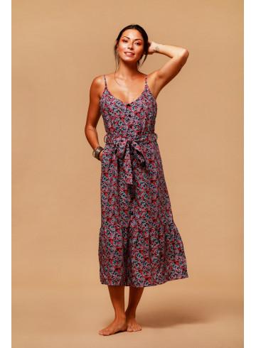 DRESS GARMA - Green Windy leaves - Dresses - Vêtements Bio - Palem Brand