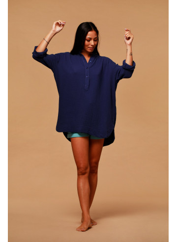 TUNIQUE IKA - Indigo - Tops & chemises - Vêtements Bio - Palem Brand