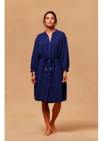 DRESS DEEPSEA - Indigo - Dresses - Vêtements Bio - Palem Brand