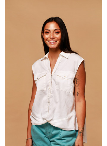 CHEMISE FLORES - Tops & chemises - Vêtements Bio - Palem Brand