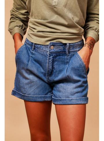 SHORTS BALMY - Denim Stone - Skirts & Shorts - Vêtements Bio - Palem Brand