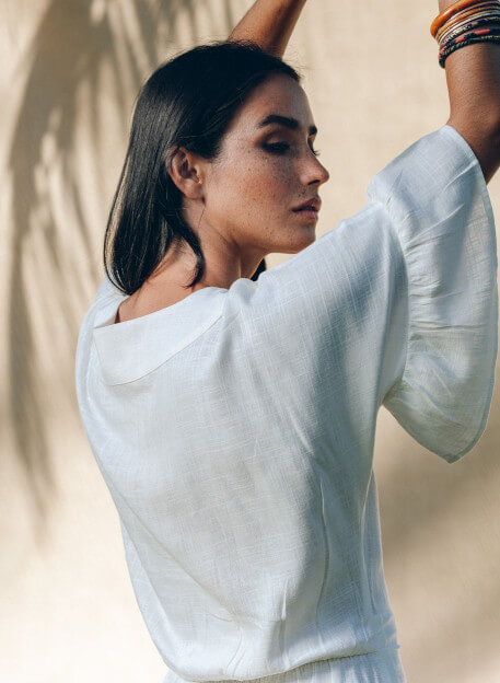 IRIMA DRESS IN WHITE -PALEM