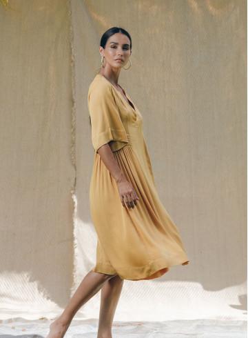 ENOHA OCHRE DRESS -PALEM