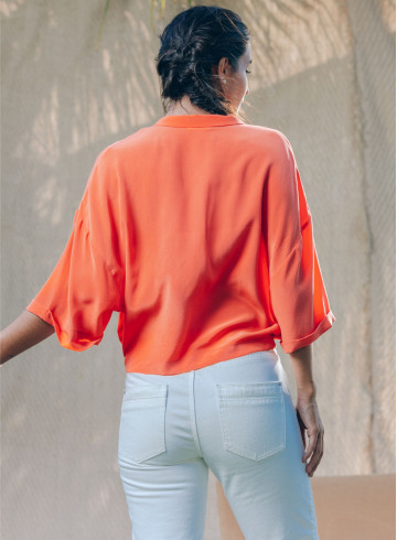AMANATE ORANGE SHIRT -PALEM