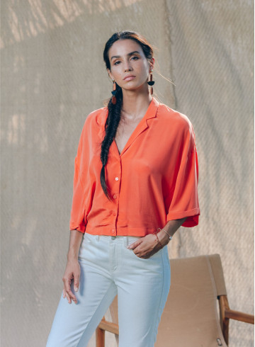 CHEMISE AMANATE ORANGE-PALEM