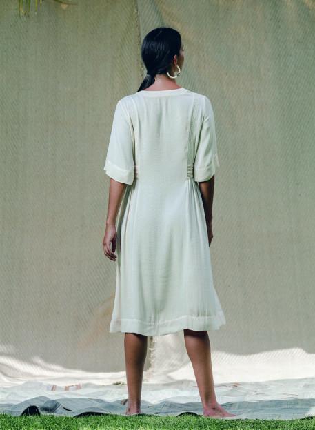 ENOHA ECRU DRESS -PALEM