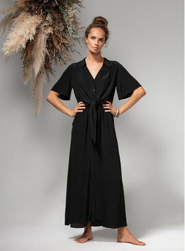 DRESS ONAE BLACK - Dresses - Vêtements Bio - Palem Brand
